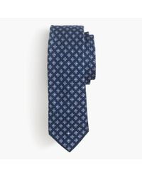 J.Crew | Blue Italian Silk Tie In Square Medallion for Men | Lyst