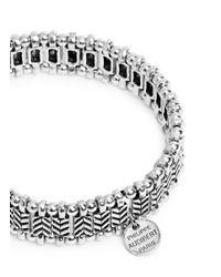 Philippe Audibert - Metallic 'Watson' Chevron Bead Elastic Bracelet - Lyst