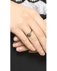 Jamie Wolf | Metallic Nycb Serenade Black & White Diamond Ring - Silver | Lyst