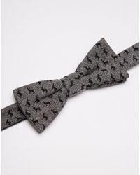 Jack & Jones - Gray Bowtie With Reindeer Embroidery for Men - Lyst