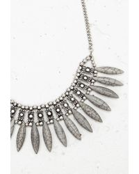 Forever 21 | Metallic Almond-shaped Statement Necklace | Lyst