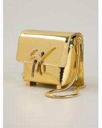 Giuseppe Zanotti | Metallic Logo Plaque Shoulder Bag | Lyst