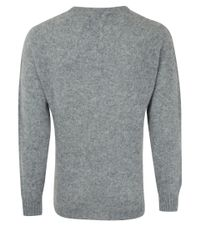 Howlin' By Morrison - Gray Grey Birth Of The Cool Crew Neck Wool Knit Jumper for Men - Lyst