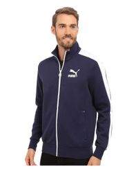 Puma Archive T7 Track Jacket In Blue For Men Peacoat Lyst