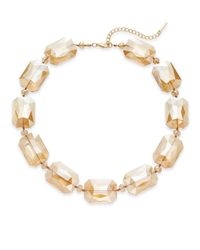 Saks Fifth Avenue - Metallic Faceted Beaded Necklace - Lyst