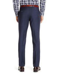 BOSS - Blue 'genesis' | Slim Fit, Virgin Wool Check Dress Pants for Men - Lyst