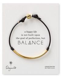 Dogeared | Black Balance Tube Leather Bracelet | Lyst