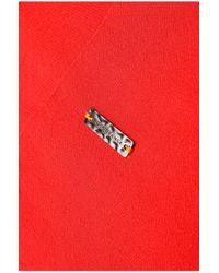 BOSS Orange | Red 'egioie' | Cotton Silk Pleated Midi Dress | Lyst