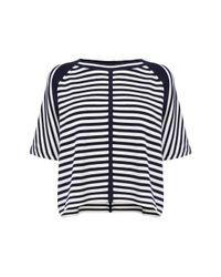 Karen Millen | Blue Stripe Knit Jumper | Lyst