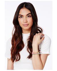 Missguided | Multicolor Tosha Multi Coloured Bracelet | Lyst