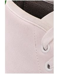 BOSS Green - White Fabric Sneakers 'dynamo' With Leather Detailing for Men - Lyst