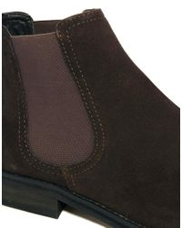 KG by Kurt Geiger | Brown Kg By Kurt Geiger Peter Suede Chelsea Boots for Men | Lyst