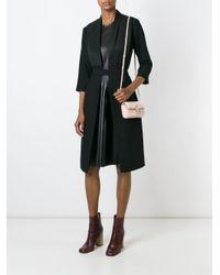 Fendi   Pink Baguette Micro Leather-trimmed Shearling Shoulder Bag   Lyst