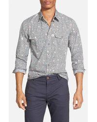 BOSS Orange - Black 'edaslime' Slim Fit Print Woven Shirt for Men - Lyst