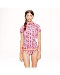 J.Crew | Pink Liberty Katie Ann Short-sleeve Rash Guard | Lyst