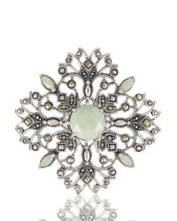 Lord & Taylor | Green Openwork Brooch | Lyst