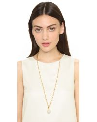 kate spade new york - Natural Pearly Delight Long Pendant Necklace - Cream Multi - Lyst