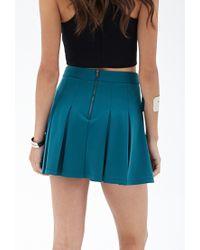 Forever 21 - Blue Scuba Knit Skater Skirt - Lyst