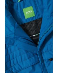 BOSS Green | Blue Jacket In Smooth Fabric Blend: 'jadon 16' for Men | Lyst