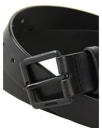 DIESEL | Black Bicchia Leather Belt for Men | Lyst