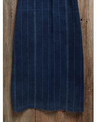 Free People - Blue Vintage Denim Embroidered Caftan - Lyst