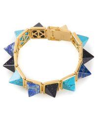 Eddie Borgo - Blue Gemstone Pyramid Bracelet - Lyst