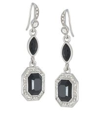 Carolee | Black Royal Redeux Emerald Double Drop Earrings | Lyst
