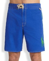 Polo Ralph Lauren | Blue Sanibel Swim Trunks for Men | Lyst