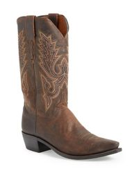 Lucchese | Brown 'madras' Western Boot for Men | Lyst