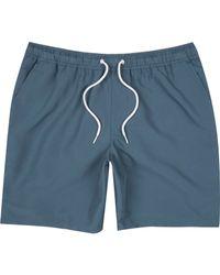 River Island - Blue Drawstring Swim Trunks for Men - Lyst