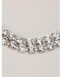 Tom Binns   Metallic Long 3 Strand Crystal Necklace   Lyst