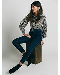 Free People | Blue All Night High Rise Skinny | Lyst