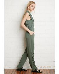 Forever 21 | Green Classic Utility Jumpsuit | Lyst