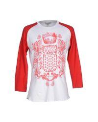 Balmain - Red T-shirt for Men - Lyst