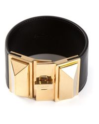 Saint Laurent | Black Pyramid Stud Cuff | Lyst