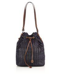 Eric Javits | Blue Ami Woven Bucket Bag | Lyst