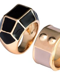 H&M   Metallic 3-pack Rings   Lyst