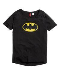 H&M | Black Oversized T-Shirt | Lyst