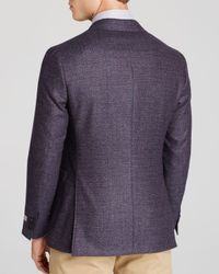 Canali - Purple Boucle Kei Classic Fit Sport Coat for Men - Lyst