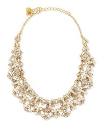 kate spade new york - Yellow Cocktails & Conversation Statement Necklace - Lyst