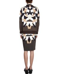 Givenchy - Brown Geometric Patchwork Skirt - Lyst