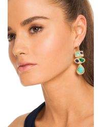 Trina Turk - Blue Stone Chandelier Earring - Lyst