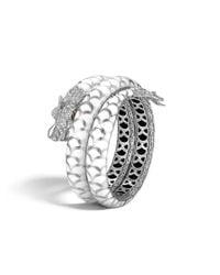 John Hardy - Metallic Legends Naga Double Coil Bracelet In Silver With Gemstone - Lyst
