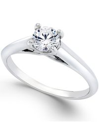 X3 | Certified Diamond Engagement Ring In 18k White Gold (1/2 Ct. T.w.) | Lyst