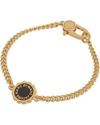 Marc By Marc Jacobs | Black Scalloped Disc Bracelet - For Women | Lyst