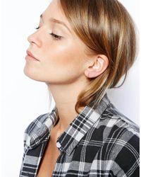 ASOS - Metallic Gold Plated Sterling Silver 14Mm Fine Hoop Earrings - Lyst
