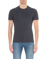 Armani Jeans | Blue Logo Cotton-jersey T-shirt for Men | Lyst