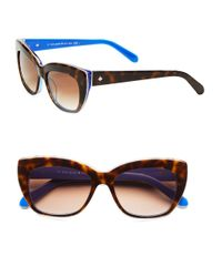 Kate Spade | Brown 50Mm Crimson Small Cat Eye Sunglasses | Lyst