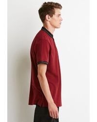 Forever 21 | Red Striped-trim Polo for Men | Lyst