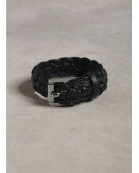 John Varvatos - Black Braided Leather Cuff for Men - Lyst